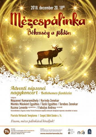Mézespálinka 2018. koncert plakátja
