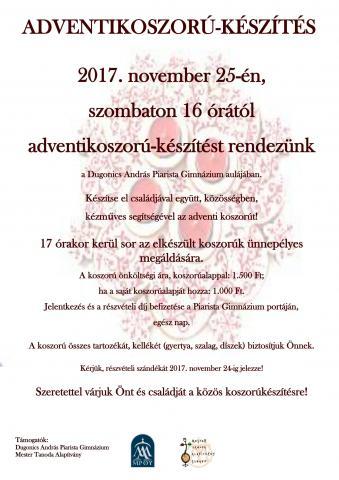 ADVENTIKOSZORÚ-készítés_plakát